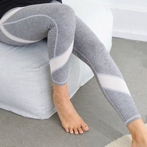 Aerie Chill Play Move Grey Speckled Mesh Leggings